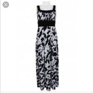 Donna Ricco Jersey maxi dress size 14! Black white